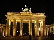 La porte de Brandebourg, Berlin (Carl Gotthard Langhans)