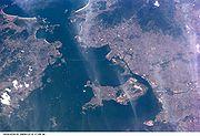 Vue de la baie de Guanabara (image satellite)