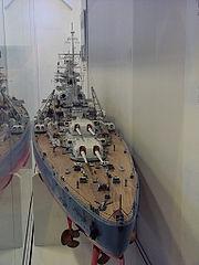 maquette de cuirassé de la classe Bismarck