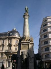 La fontaine des éléphants à Chambéry
