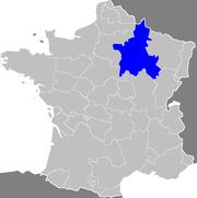 La Champagne; carte des anciennes provinces de France
