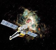 Vue d'artiste du télescope spatial Chandra.