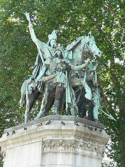 Charlemagne, parvis de ND de Paris
