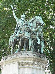 Charlemagne, parvis de ND de Paris