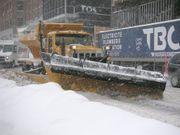 Photo de chasse-neige prise dans la ville de Québec