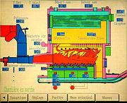 Pupitre de commande de la chaufferie au bois de 3200 kW installé à Gray (Haute-Saône)