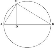 AO = 1, OB = a, OH = x