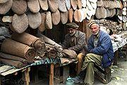 Artisans de chapeaux pakistanais (pakol)