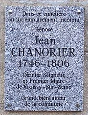 Plaque commémorative dans le cimetière de Croissy-sur-Seine