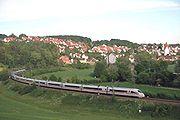 ICE 3 en double traction sur la Filsbahn près de Lonsheim