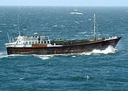 Boutre dans l'océan Indien