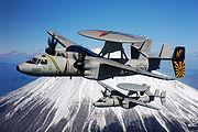 2 E-2C Hawkeye de l'US Navy au dessus du mont Fuji