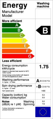Exemple d'étiquette-énergie