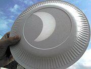 Éclipse du 11 août 1999 (Image produite par un télescope)