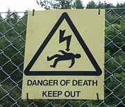 panneau de danger