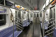 L'intérieur d'une rame de métro
