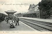 Les quais de la gare, actuelle gare Transilien