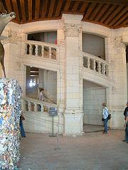 escalier du ch�teau de Chambord