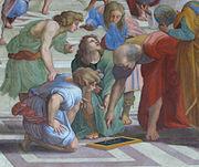 Euclide, détail de L'École d'Athènes par  Raphaël.