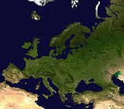 Photographie satellitale de l'Europe