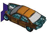 Simulation numérique d'un crash d'une voiture. - L'analyse numérique: domaine applicatif des mathématiques.