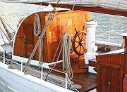 La Belle Poule à quai au port de commerce de Brest (16 mars 2002)