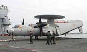 Avion de surveillance E-2 Hawkeye de l'Aviation navale française