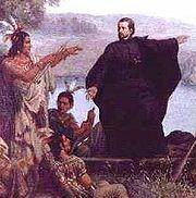 Le père Marquette prêchant aux Améridiens