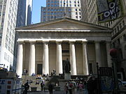Federal Hall, années 1830, New York, style néogrec