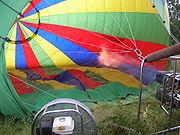 Chauffage de l'air dans le ballon