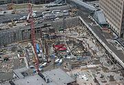 Le chantier des fondations, 26 mars 2007