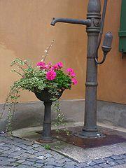 Pompe à eau à Augsburg, en Allemagne