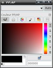 Boite à dialogue des couleurs sous KDE
