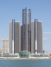 Le Renaissance Center, quartier général de General Motors à Détroit