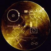 Le couvercle du Voyager Golden Record.