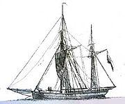Galiotte, extraite du Dictionnaire de la Marine de Willaumez, 1831