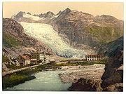 Le glacier du Rhône avant 1900