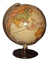 Un globe dans des tons de crème