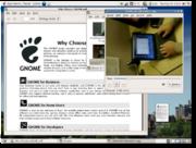 L'environnement GNOME avec le lecteur multimédia Totem et le lecteur PDF Evince