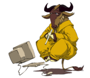 GNU en lévitation par Nevrax Design Team
