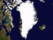 Image satellite du Groenland.