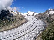 Le glacier d'Aletsch en Suisse
