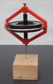 Un gyroscope tournant sur un clou