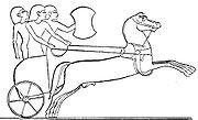 Gravure égyptienne représentant un char hittite