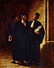 Caricature d'avocats d'Honor� Daumier