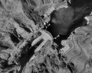 Photographie aérienne du barrage