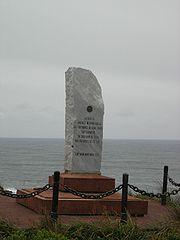 Stèle de l'Amicale internationale des capitaines au long cours sur l'île Horn