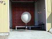 Ballon gonflé à l'hydrogène