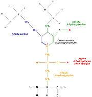Liaison de trois régions polypeptidiques avec formation d'un hydroxypyridinium