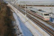 ICES faisant des mesures (décembre 2005) sur la LGV Nuremberg-Ingolstadt vers Munich